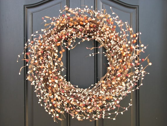 Fall Berry Wreath  - Autumn Orchard Berry Front Door Decor