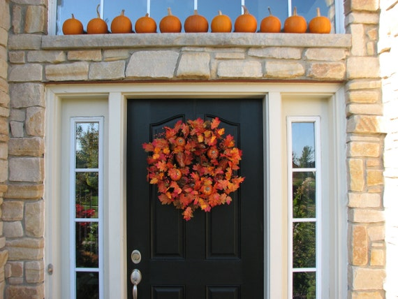 GREAT DEAL - Fall Wreath - Falling Into Leaves With You - Fall Front Door Wreath SALE