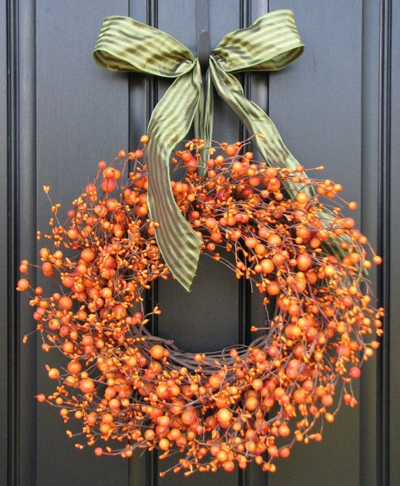 Fall Wreath -  The Pumpkin Wreath for Autumn Decor