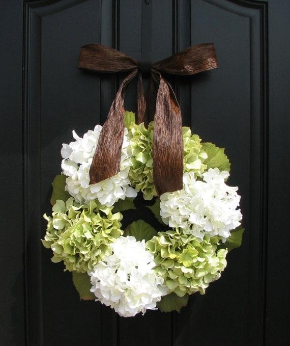 Hydrangeas in Summer - Hydrangea Wreaths - Floral Decor