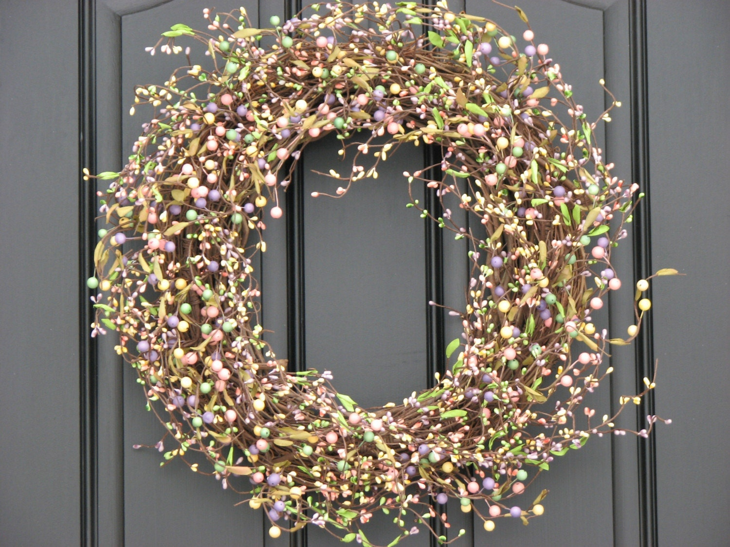 outdoor wreaths spring blessings wreath berry wreaths