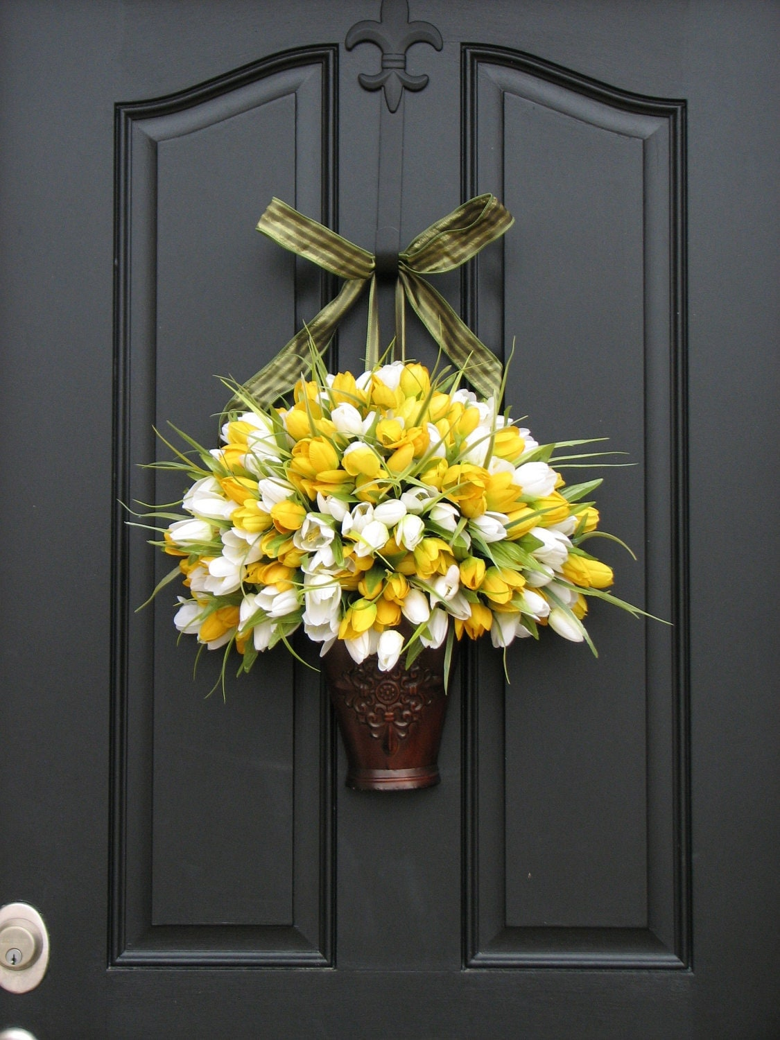 Spring Tulips Spring Wreath Yellow Tulips By Twoinspireyou