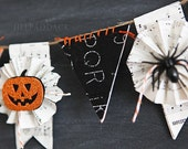 halloween banner kit, flags, bunting, garland