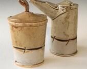 Hand Built Ceramic Cream and Sugar Set