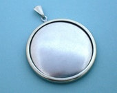 Silver Round Pendant  141ST