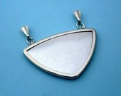 Silver Triangular Pendant Setting Frame Mounting 108ST