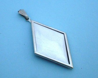 Silver Diamond Pendant Setting Frame Mounting 111ST