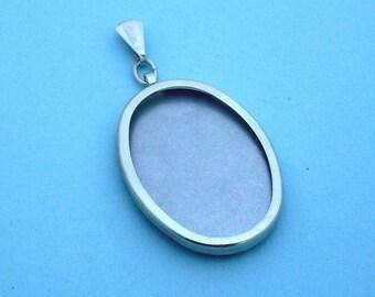 Silver Tone Oval Pendant Setting Frame Mounting 112ST, Hoop Pendant, Mini Embroidery Hoop, Metal embroidery Frame, Metal Hoop Jewelry