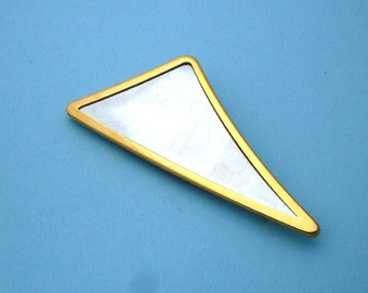 Gold Plated Triangular Pin Setting Frame Mounting 107G