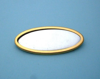 Gold Plated Oval Pin Setting Frame Mounting 117G