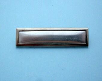 Platinum Plated Rectangular Pin Setting Frame Mounting 103P