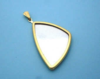 Gold Long Triangular Pendant Setting Frame Mounting 135GT