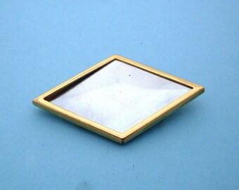 Gold Tone Diamond Pin Brooch Setting Frame Mounting 131GT