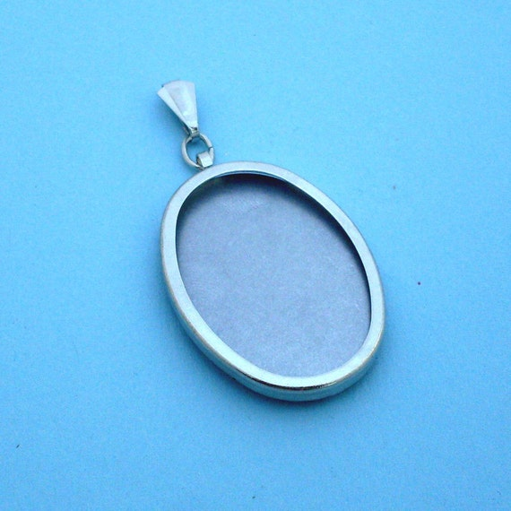 Silver Tone Oval Pendant Setting Frame Mounting 112ST, Hoop Pendant, Mini Embroidery Hoop, Metal embroidery Frame, Metal Hoop Jewelry