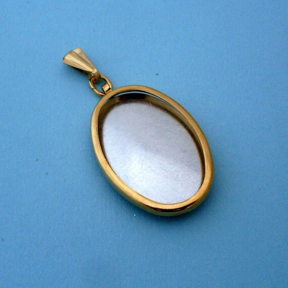 Gold Oval Pendant Setting Frame Mounting Pendant 143GT