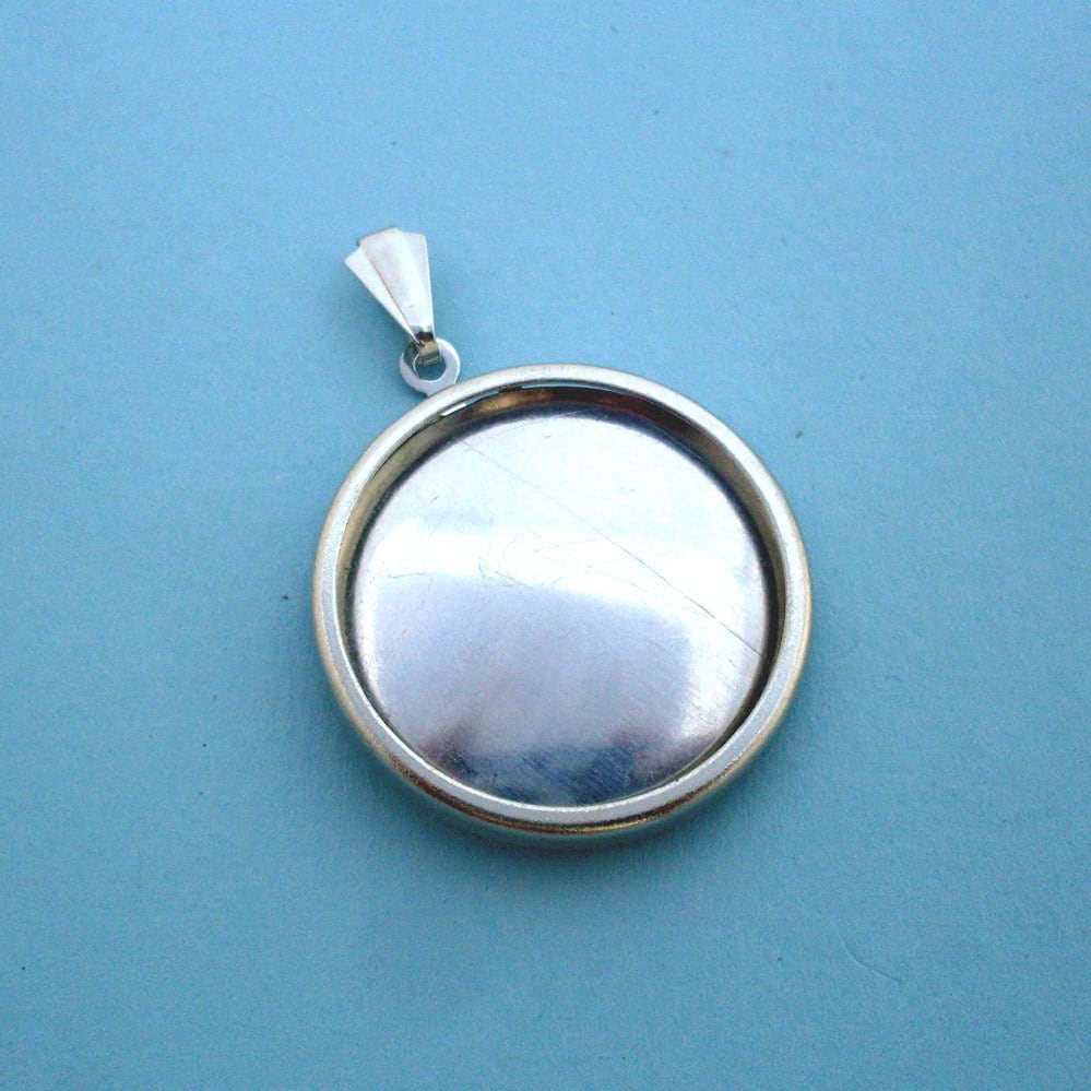 Silver Round Pendant Setting Frame Mounting 137st