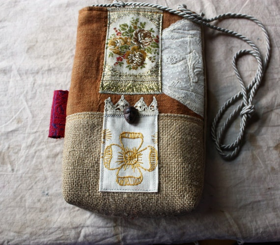 RESERVED--Garden of Joy, a Fiber-Art Story Bag