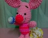Crochet Cute Pig Doll Stationery