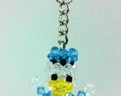 Cute Donald Joy --Swarovski crystal beads doll keychain