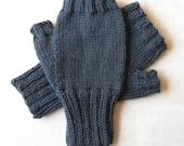Mens Fingerless Gloves - Gray - size S