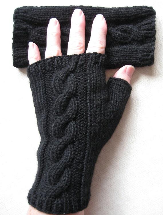 Fingerless Gloves for Women - Black