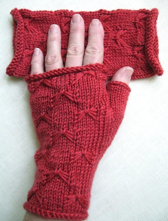 Fingerless Gloves for Women - Butterfly Stitch