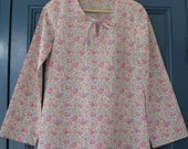Tunic in pink Liberty - Tunique en Liberty Felicitie rose