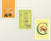 ABCs 3 alphabet art prints