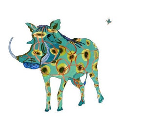 Warthog - limited edition print from original  // Home Decor 13 x19, 11 x 14, 8 x 10, 5 x 7
