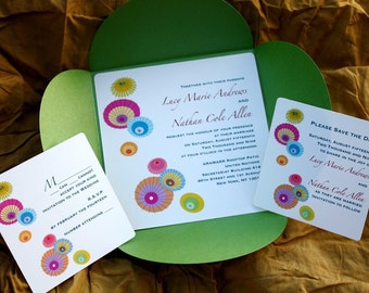 Colourful Parasols Invitation Set