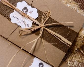 Rustic Ultimate Package Wedding Invitation set