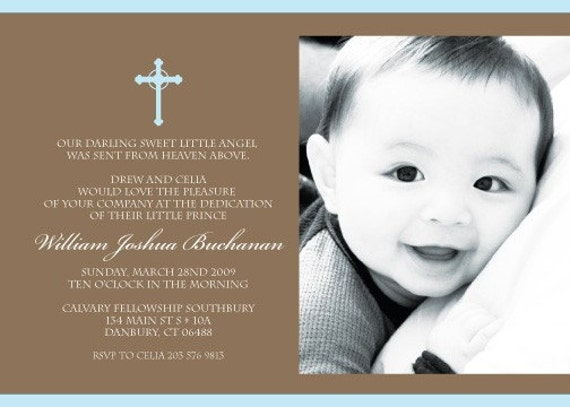 Baby's Christening/ Dedication Printable Invitation