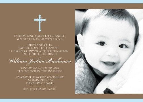 Baptism Christening Dedication Printable Invitation