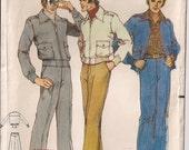 Vintage Butterick 5125 Mens Pants Jacket Size 44 1970