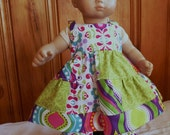 Summer Patchwork Dress and Pants 15 inch doll