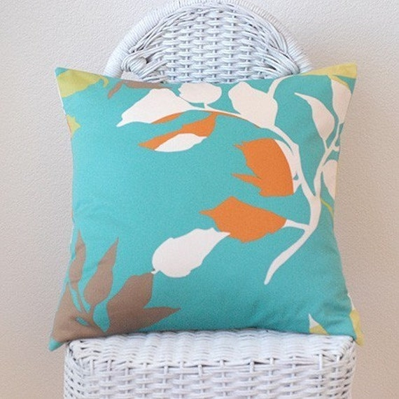 Branching Out Blue 18x18 Pillow Cover Anna Maria Horner Fabric
