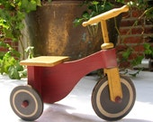Folk Art Tricycle...in muted shades of Yellow, Red and Black....Soooooo Cute