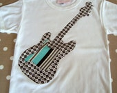 Boys White Rock Star Guitar T-shirt