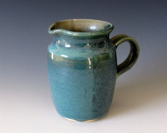 Small Pitcher: Blue/Green Plaid Combo