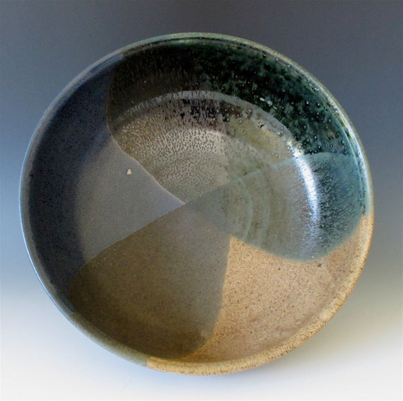 Large Bowl: Northwoods - Deep Blue Sky, Forest Green & Earth