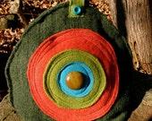 Bullseye Felted Wool Tea Cozy