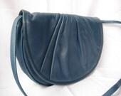 vintage leather purse - 80's