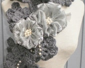 SEA SHELL GRAY NECKWARMER