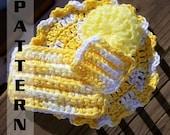 Crochet Dishcloth Washcloth Round Scrubby Sponge Kitchen Set Easy Crochet Pattern 404 INSTANT DOWNLOAD