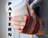 Fingerless Gloves Wrist Warmers Half Mittens Sock Yarn PDF - Crochet Pattern 510  INSTANT DOWNLOAD