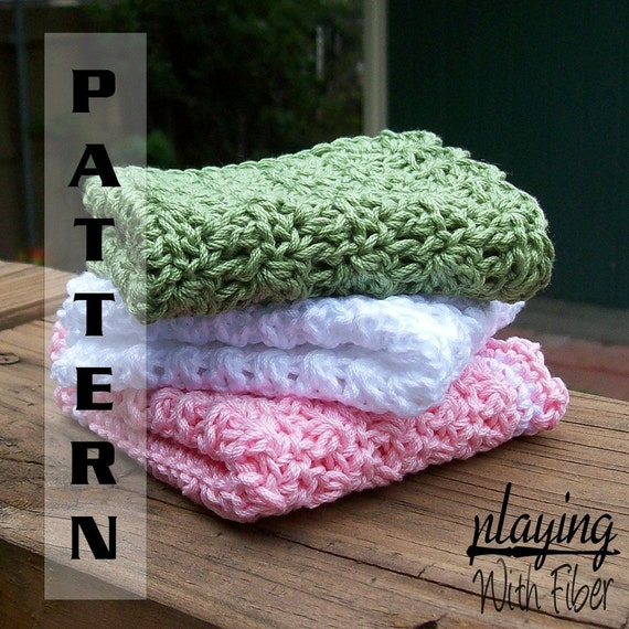 Items similar to Crochet Baby Washcloths or Dishcloths ...
