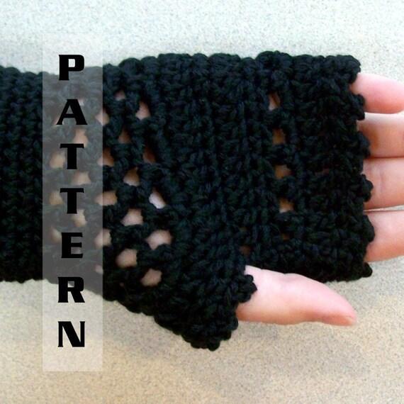 Crochet Pattern Fingerless Gloves Victorian Steampunk Design - Pattern 509 INSTANT DOWNLOAD