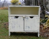 Any Color Primitive  Storage bench TV Cabinet Bench BookCase Night Stand Antique Shabby Chic Entertainment Media Center Mini Bar Wood