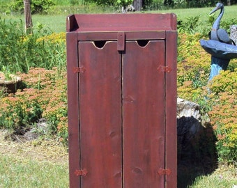 Wood Storage Cupboard Dry Sink Dresser Mini Bar Shoe Storage Tv Cabinet Hutch Any Color Salvaged Wood Wooden  Barn Red Over Black