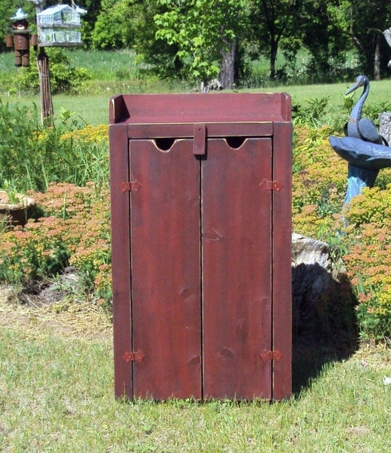 Barn Sink Dimensions : Barn Red Over Black Cupboard Dry Sink Shoe Storace Tv Cabinet Hutch ...